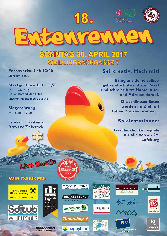 A3 Poster 18. Entenrennen 2017