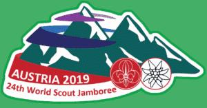 Logo und Abzeichen Österreich Kontingent für das Jamboree 2019